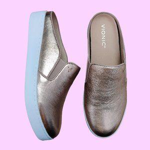 VIONIC Dakota Rose Gold Slip On Mule Sneakers 7